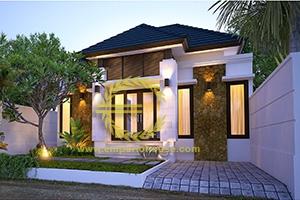 Desain Rumah 1 Lantai 2 Kamar Tidur Lebar 10 meter