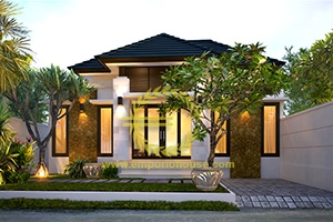 Desain Rumah 1 Lantai 2 Kamar Tidur Lebar 11 meter