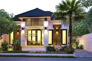 Desain Rumah 1 Lantai 2 Kamar Tidur Lebar 12 meter