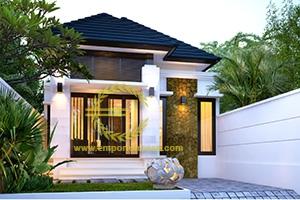 Desain Rumah 1 Lantai 2 Kamar Tidur Lebar 7 meter