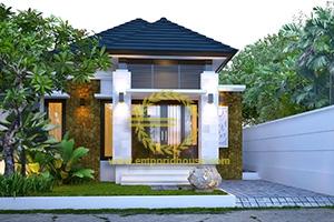 Desain Rumah 1 Lantai 2 Kamar Tidur Lebar 9 meter