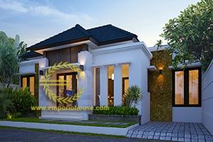 Desain Rumah 1 Lantai 3 Kamar Tidur Lebar 12 meter