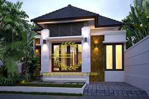 Desain Rumah 1 Lantai 3 Kamar Tidur Lebar 8 meter