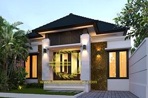 Desain Rumah 1 Lantai 3 Kamar Tidur Lebar 9 meter