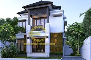 Desain Rumah 2 Lantai 3 Kamar Tidur Lebar 11 meter