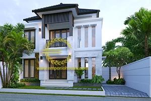 Desain Rumah 2 Lantai 3 Kamar Tidur Lebar 12 meter