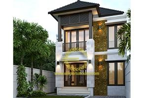Desain Rumah 2 Lantai 3 Kamar Tidur Lebar 8 meter