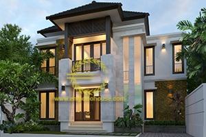 Desain Rumah 2 Lantai 4 Kamar Tidur Lebar 11 meter