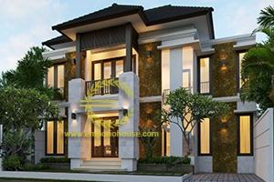 Desain Rumah 2 Lantai 4 Kamar Tidur Lebar 12 meter