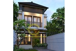 Desain Rumah 2 Lantai 4 Kamar Tidur Lebar 6 meter