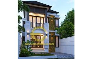 Desain Rumah 2 Lantai 4 Kamar Tidur Lebar 7 meter