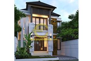 Desain Rumah 2 Lantai 4 Kamar Tidur Lebar 8 meter